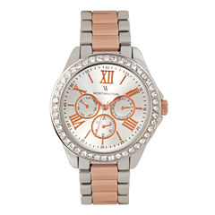 Worthington Womens Two Tone Bracelet Watch-Wt00006-05