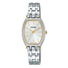 Pulsar Womens Silver Tone Bracelet Watch-Pg2049x
