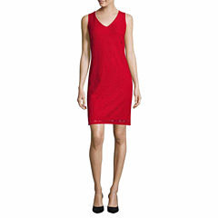 Liz Claiborne Sleeveless A-Line Dress-Talls