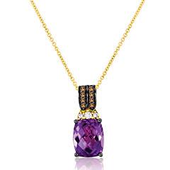 LIMITED QUANTITIES! Levian Corp Le Vian 1/7 CT. T.W. Purple Amethyst 14K Gold Pendant