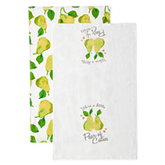 JCPenney Home Pear Of Cuties 2-pc. Kitchen Towel