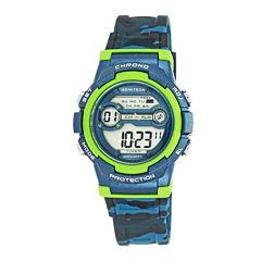 Armitron® Blue and Lime Digital Chronograph Sport Watch