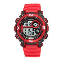 Armitron® Mens Red Digital Sport Watch