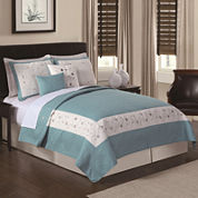 Constance Sea Breeze 5-pc. Embroidered Quilt Set