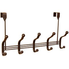Home Basics 5-Hook Bronze Over-the-Door Hanging Rack