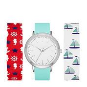 Mixit Womens Multicolor Strap Watch-Fmdjps094