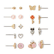 Carole Two-Tone Crystal Earring Set