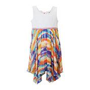 Lilt Sleeveless Tie-Dye Sharkbite Dress - Preschool Girls 4-6x