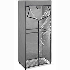 Whitmor Gray Steel Double Rod Closet with Cover