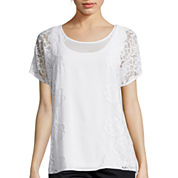 By Artisan Short-Sleeve Lace Top