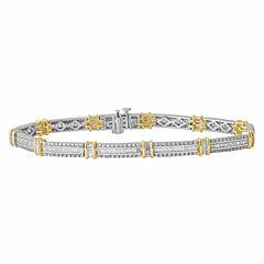 2 CT. T.W. Diamond 14K Two-Tone Gold Bracelet