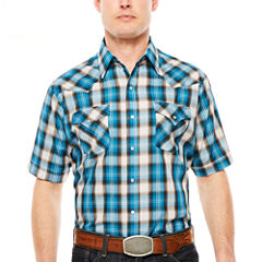Ely Cattleman Short Sleeve Snap Plaid - Reg