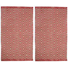 Chesapeake Merchandising Portland Diamond Rectangular Rug Set