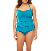 Pure Paradise® Solid Ruffle Bandini Swim Top or Hipster Swim Bottoms
