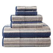JCPenney Home™ 6-pc. Farmhouse Stripe Bath Towel Set