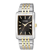 Citizen® Everyday Mens Rectangular Two-Tone Stainless Steel Watch BH1678-56E