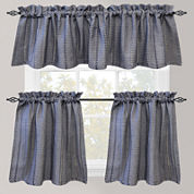 Park B. Smith Eyelet Chambray Rod-Pocket Kitchen Curtains