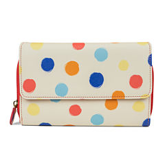 Mundi Dottie Print Big Fat RFID Blocking Clutch Wallet