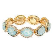 Vieste® Mint Stone and Crystal Stretch Bracelet