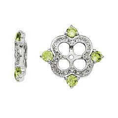 Diamond Accent & Genuine Peridot Sterling Silver Earring Jackets