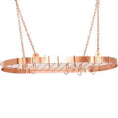Old Dutch International® Satin Copper Oval Pot Rack + 12 Hooks