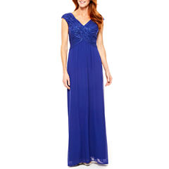 Ombre Sleeveless Evening Gown