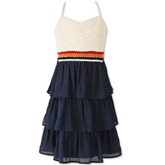 Speechless Crochet Halter w/ Tiered Skirt - Girls' 7-16