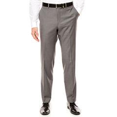 J.Ferrar Stretch Gray Sharkskin Pants-Slim Fit