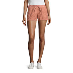 Rewind Lace Soft Shorts-Juniors