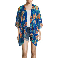Arizona 3/4 Sleeve Pattern Kimono Juniors
