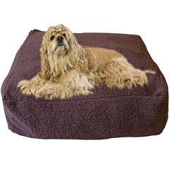 Carolina Pet Co. Chocolate Cloud Sherpa Pouf Pet Bed