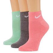Nike 3 Pair Quarter Socks