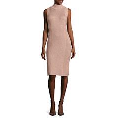 Worthington Sleeveless Sweater Dress-Talls