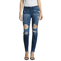 Rewash Destructed Classic Fit Jeans-Juniors