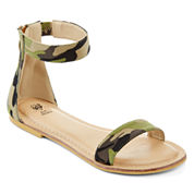 GC Shoes Sincerely Ankle Strap Flat Sandals