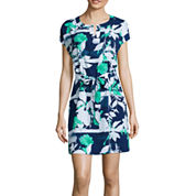 Liz Claiborne® Short-Sleeve Caftan Dress - Petite