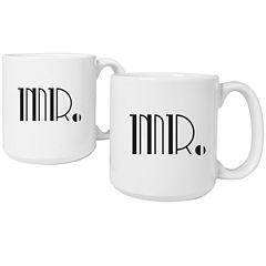 Cathy's Concepts Mr. & Mr. Gatsby Set of 2 20 oz. Coffee Mugs
