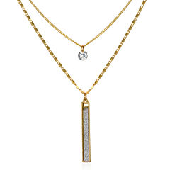 Mixit Womens Clear Strand Necklace