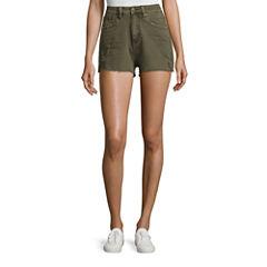 Union Bay Destructed Denim Shorts-Juniors