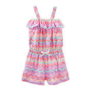 OshKosh B'gosh® Sleeveless Print Cotton Romper - Preschool Girls 4-6x