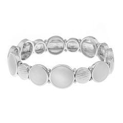 Gloria Vanderbilt Womens White Stretch Bracelet