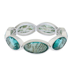 Gloria Vanderbilt Womens Blue Stretch Bracelet