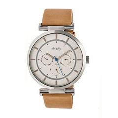 Simplify The 4800 Unisex Brown Strap Watch-Sim4805