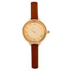 Bertha Madison Womens Brown Strap Watch-Bthbr6705