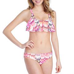 Arizona Ikat Flounce Swimsuit Top or HIpster Bottom-Juniors