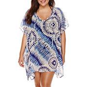 a.n.a Tie Dye Chiffon Dress - Plus