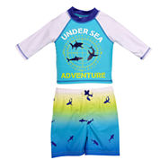 Candlesticks Sea Adventure Rash Guard Set - Baby