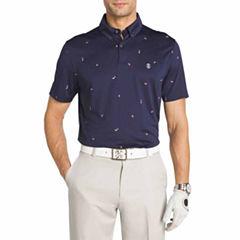 IZOD Golf Print Short Sleeve Polo Shirt