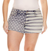 Arizona Americana Flag Shorts-Juniors Plus