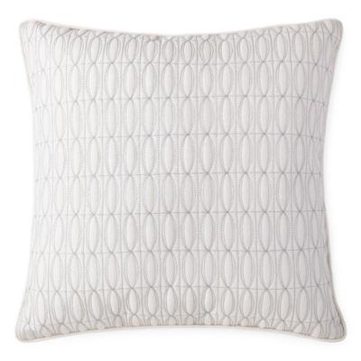 Liz Claiborne Blush Floral Square Throw Pillow
